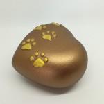 Urna cuore bronzo in ceramica